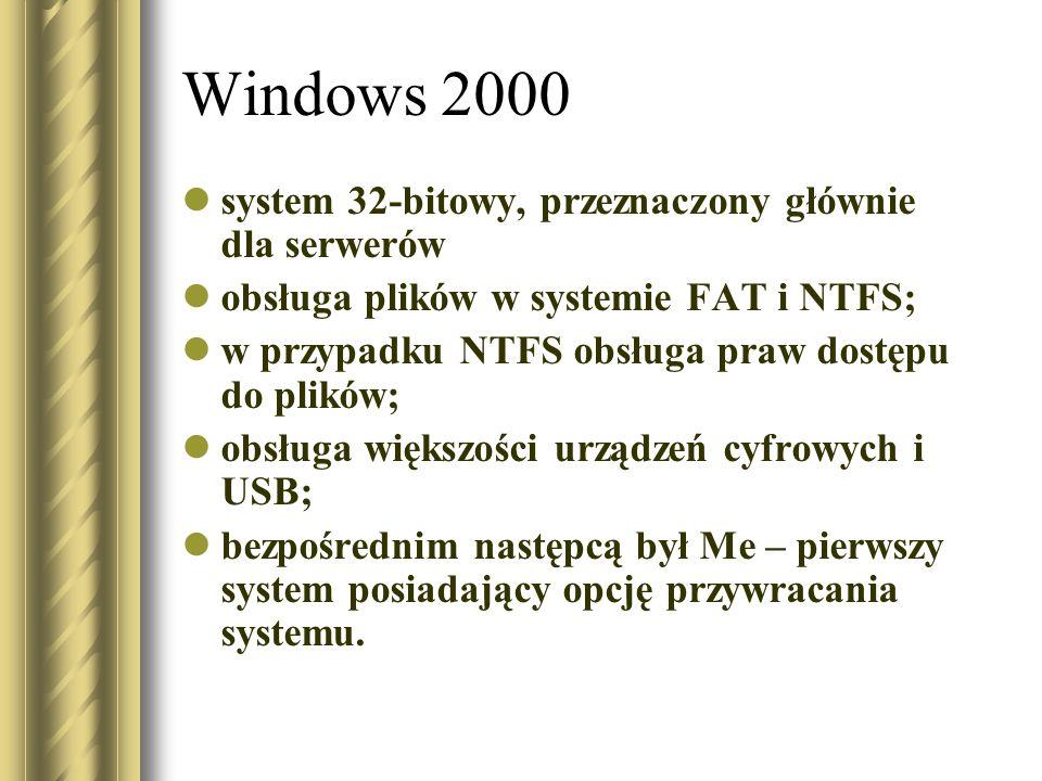 Windows 2000 system 32-bitowy, przeznaczony głównie dla serwerów