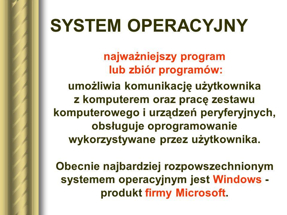 najważniejszy program lub zbiór programów:
