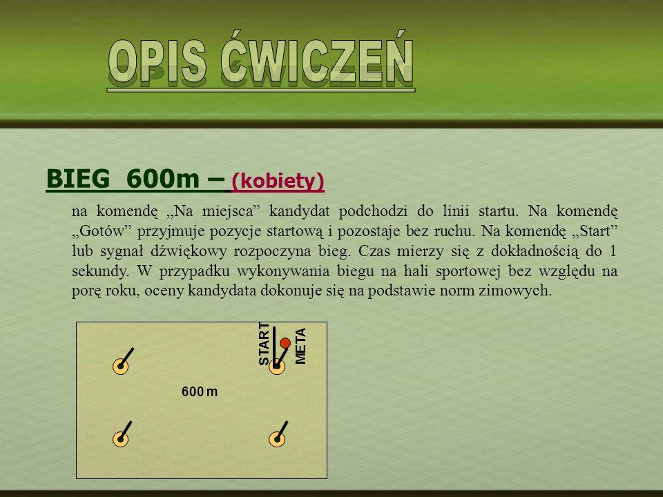 OPIS ĆWICZEŃ BIEG 600m – (kobiety)