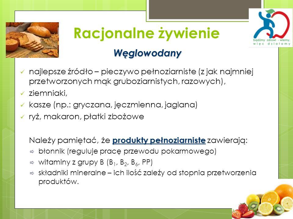 Racjonalne żywienie Węglowodany