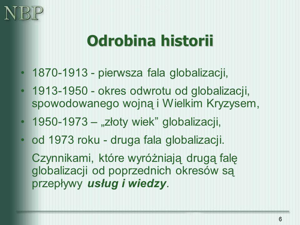 Odrobina historii 1870-1913 - pierwsza fala globalizacji,
