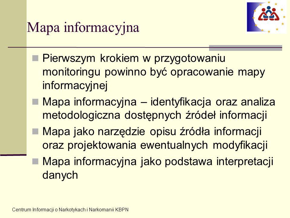 Mapa informacyjna Pierwszym krokiem w przygotowaniu monitoringu powinno być opracowanie mapy informacyjnej.