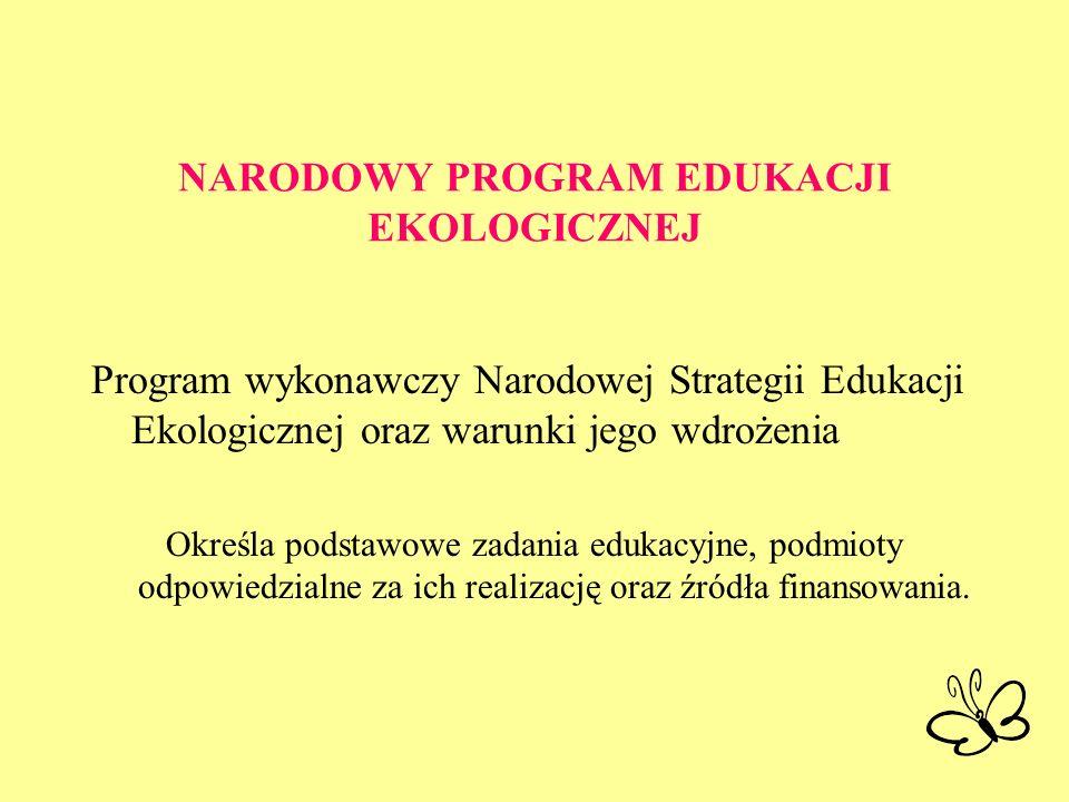 NARODOWY PROGRAM EDUKACJI EKOLOGICZNEJ