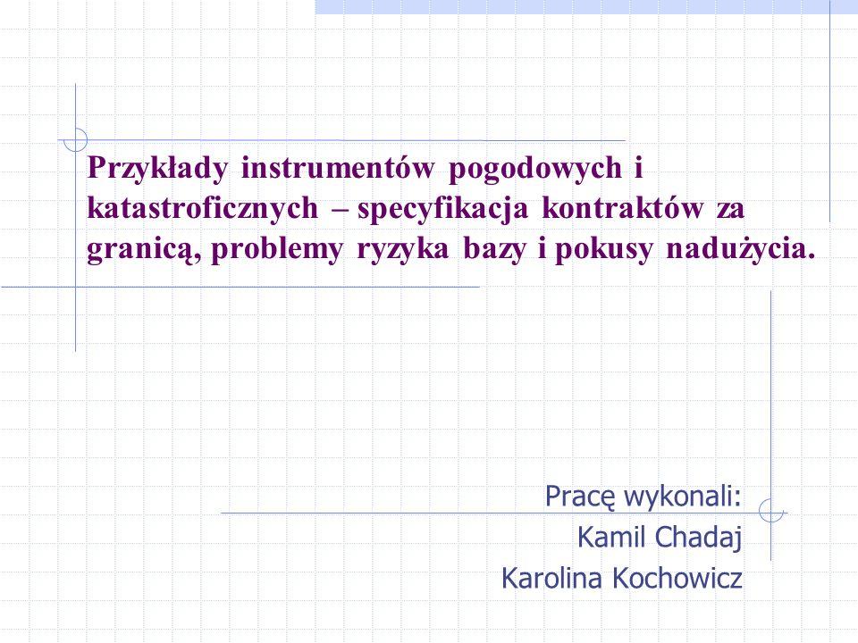 Pracę wykonali: Kamil Chadaj Karolina Kochowicz
