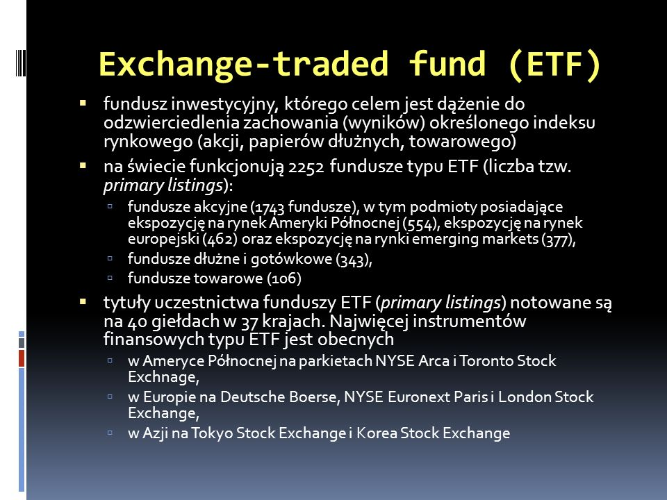 Exchange-traded fund (ETF)