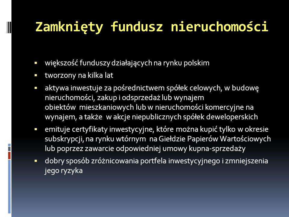 Zamknięty fundusz nieruchomości
