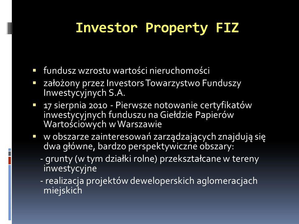 Investor Property FIZ fundusz wzrostu wartości nieruchomości