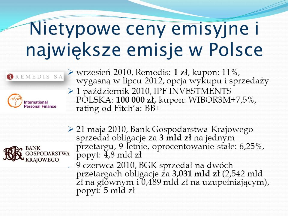 Nietypowe ceny emisyjne i największe emisje w Polsce