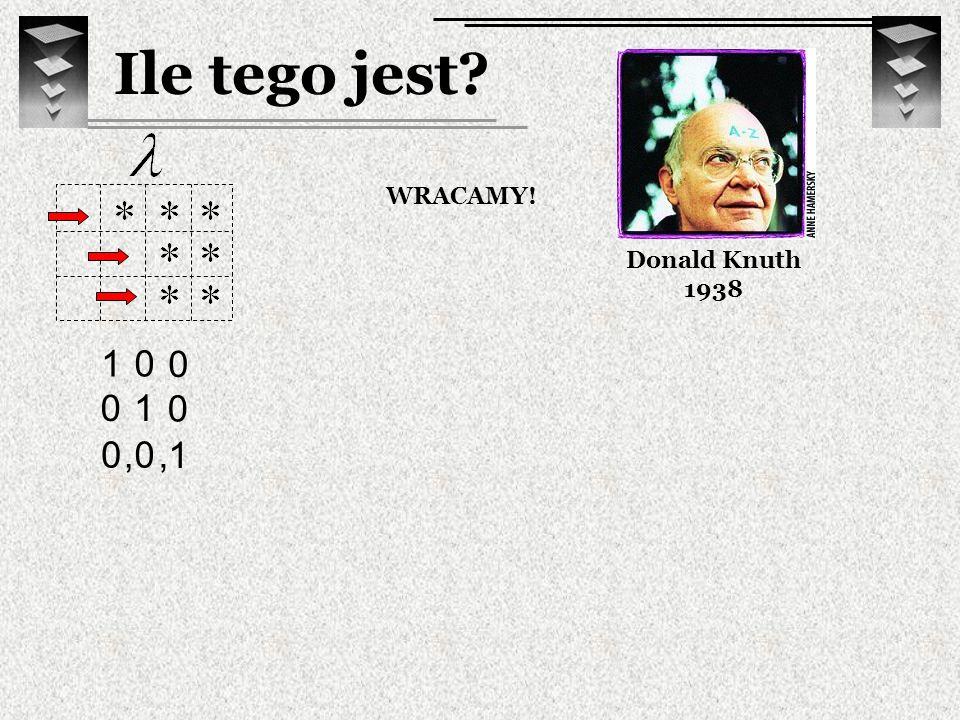 Ile tego jest Donald Knuth 1938 WRACAMY! 1 ,