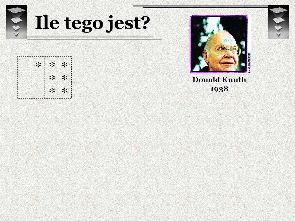 Ile tego jest Donald Knuth 1938