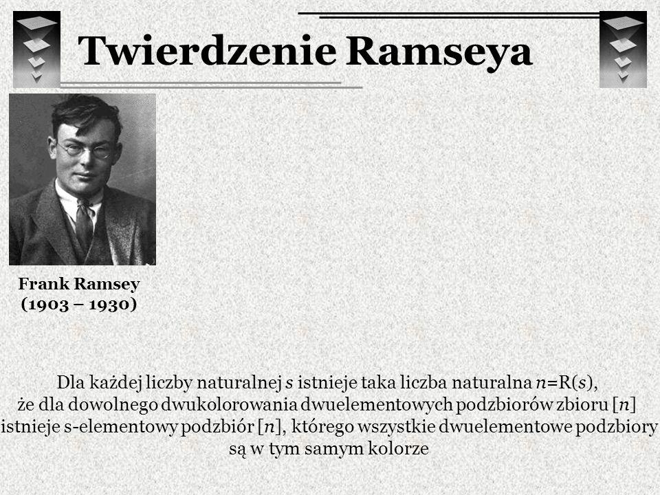 Twierdzenie Ramseya Frank Ramsey. (1903 – 1930)