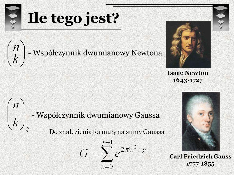 Ile tego jest - Współczynnik dwumianowy Newtona