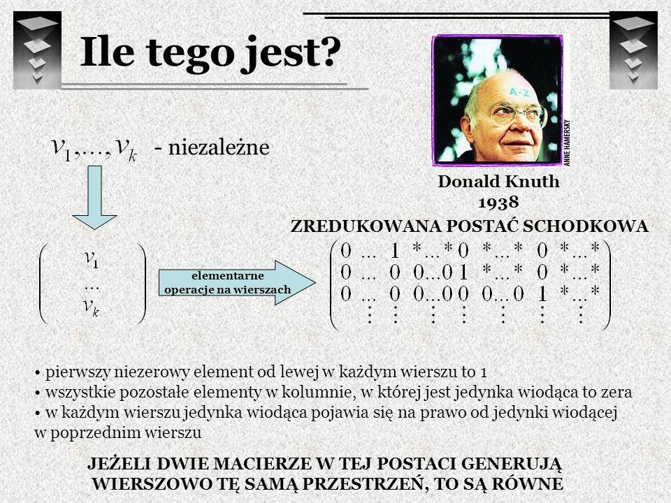 Ile tego jest - niezależne Donald Knuth 1938