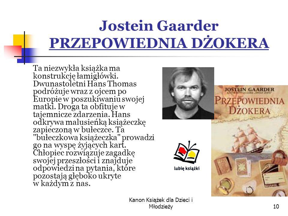 Jostein Gaarder PRZEPOWIEDNIA DŻOKERA
