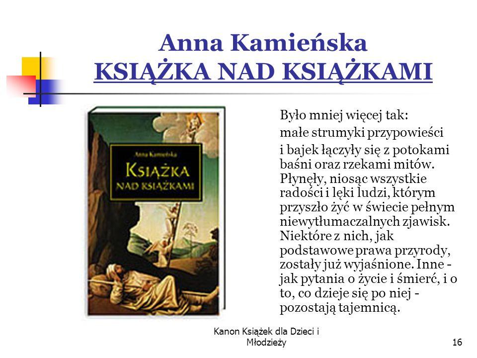 Anna Kamieńska KSIĄŻKA NAD KSIĄŻKAMI
