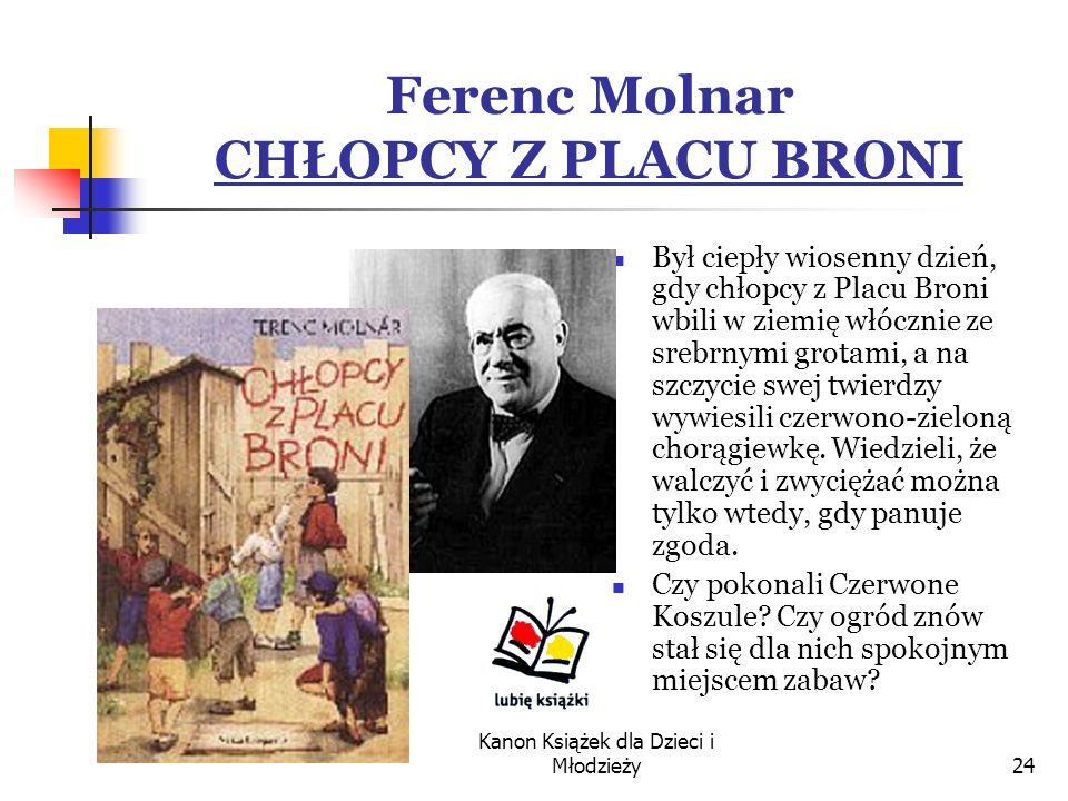 Ferenc Molnar CHŁOPCY Z PLACU BRONI