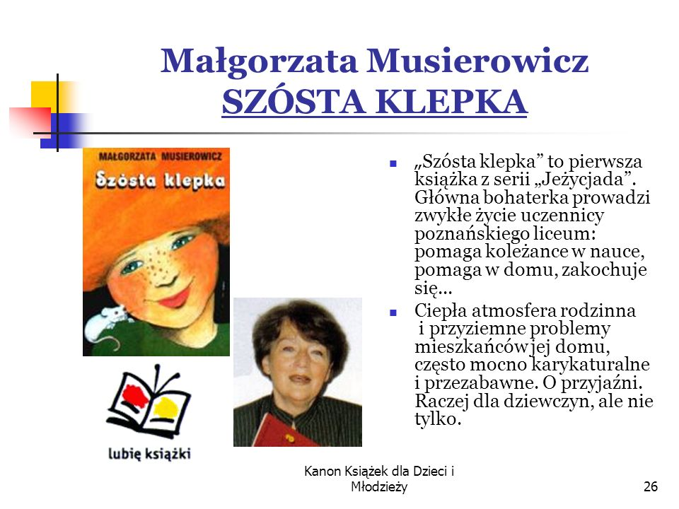 Małgorzata Musierowicz SZÓSTA KLEPKA