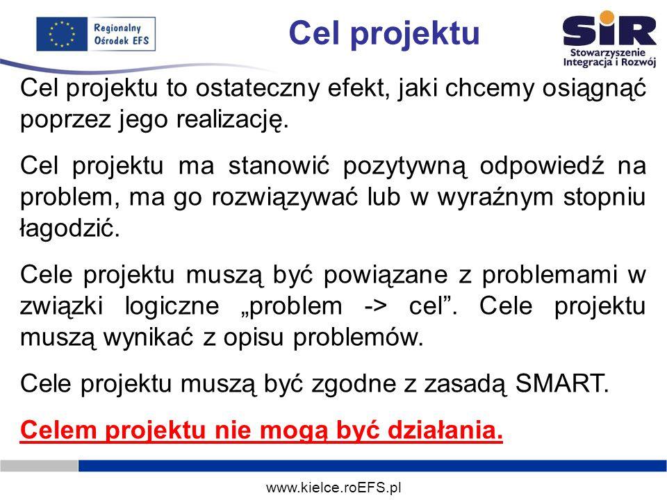 Cel projektuCel projektu to ostateczny efekt, jaki chcemy osiągnąć poprzez jego realizację.