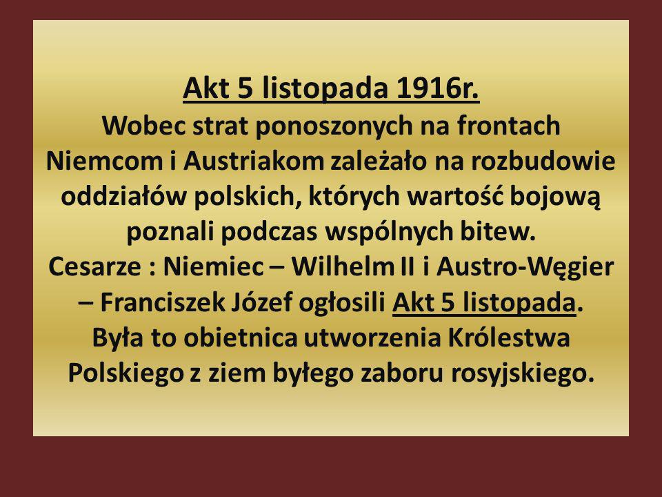 Akt 5 listopada 1916r.