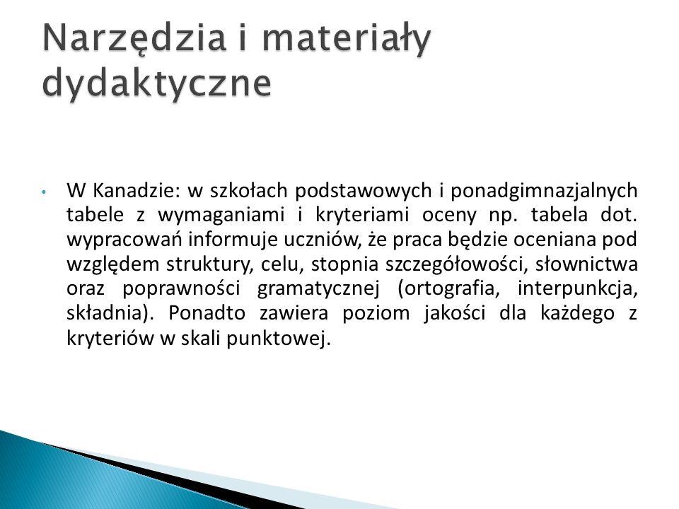 Narzędzia i materiały dydaktyczne