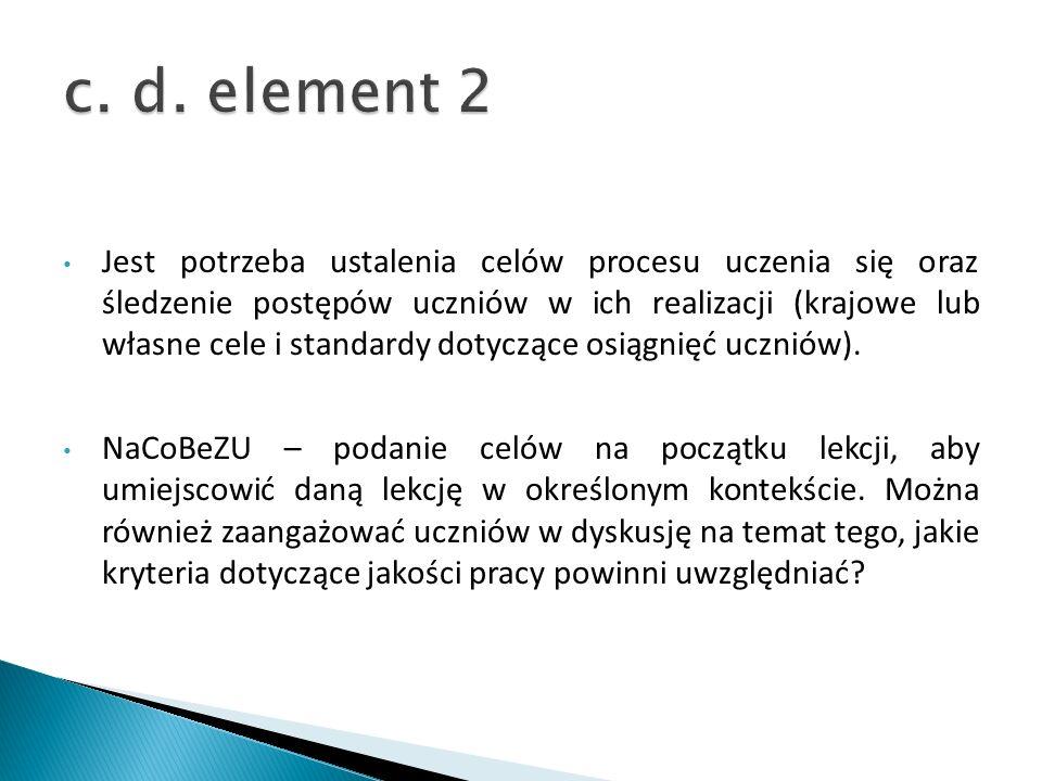 c. d. element 2