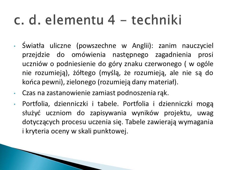 c. d. elementu 4 - techniki