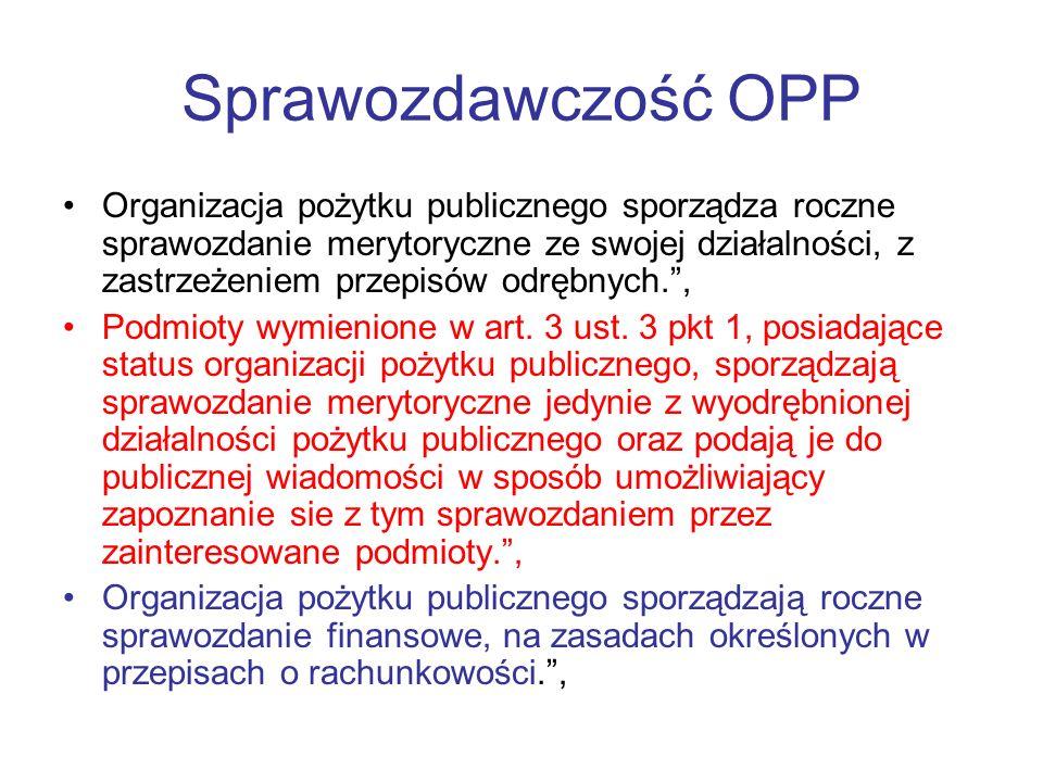 Sprawozdawczość OPP