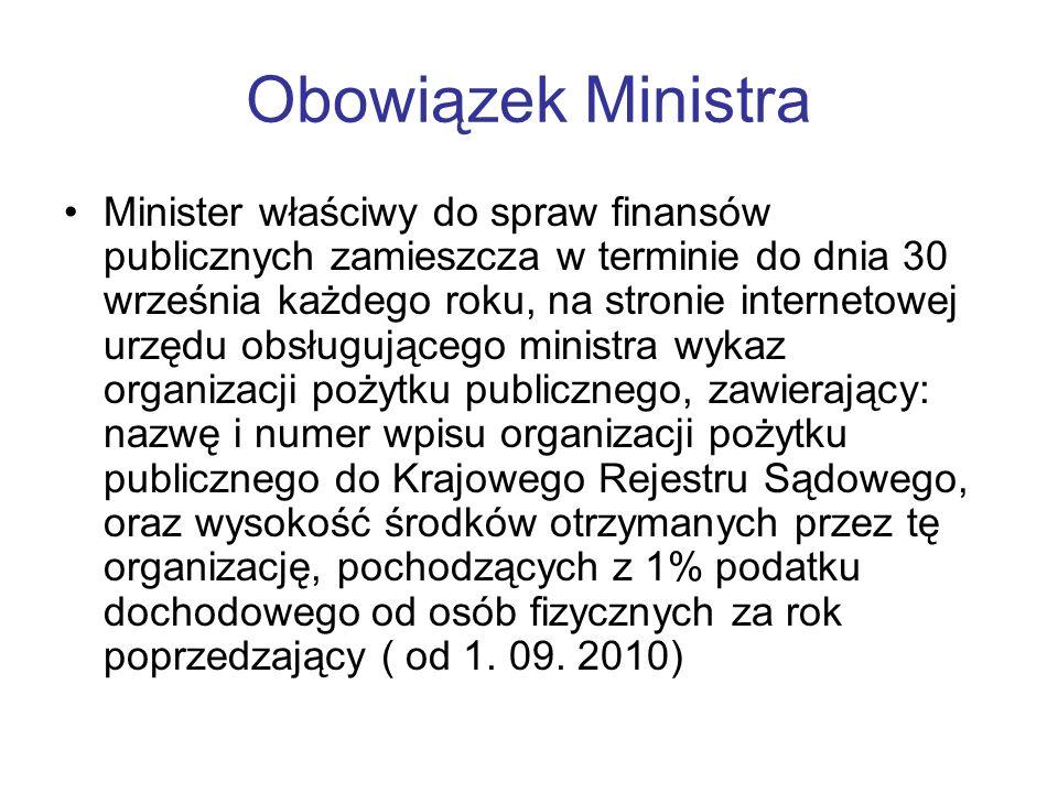 Obowiązek Ministra