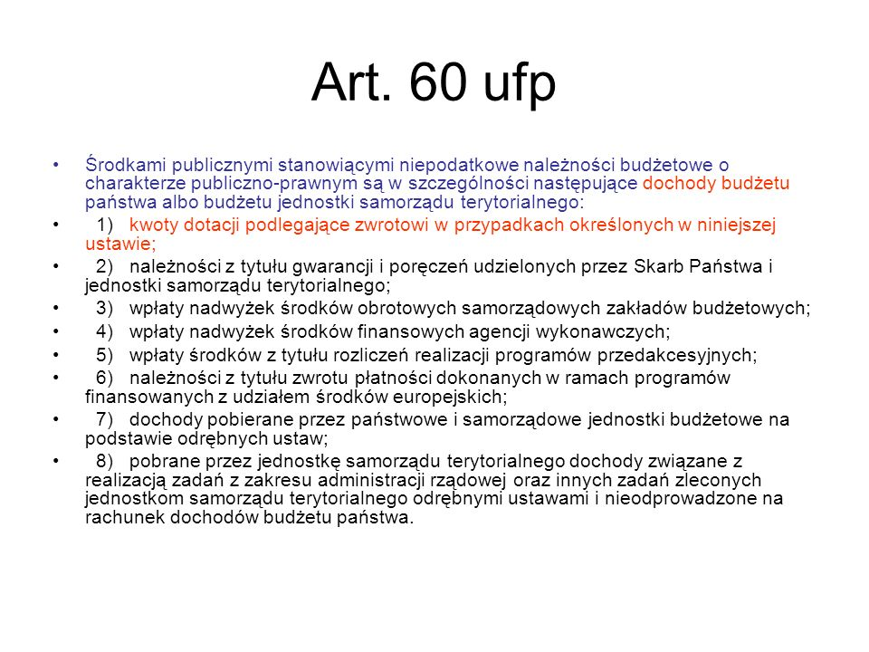 Art. 60 ufp