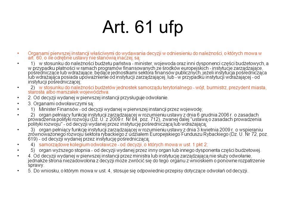 Art. 61 ufp
