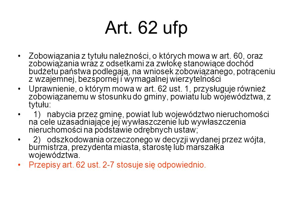 Art. 62 ufp