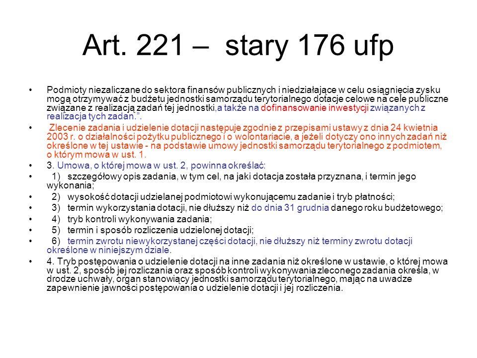 Art. 221 – stary 176 ufp