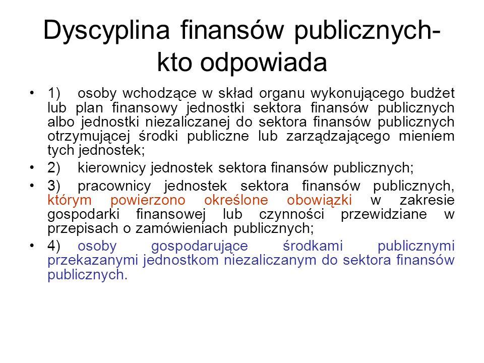 Dyscyplina finansów publicznych- kto odpowiada
