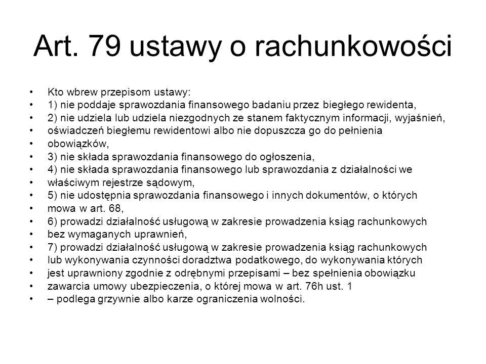 Art. 79 ustawy o rachunkowości
