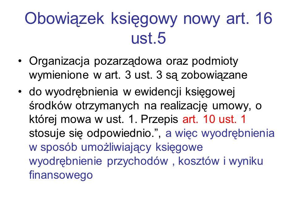 Obowiązek księgowy nowy art. 16 ust.5