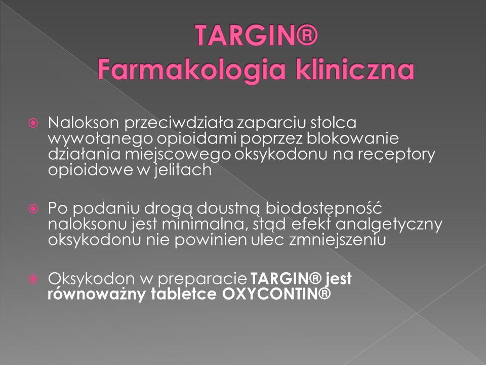 TARGIN® Farmakologia kliniczna