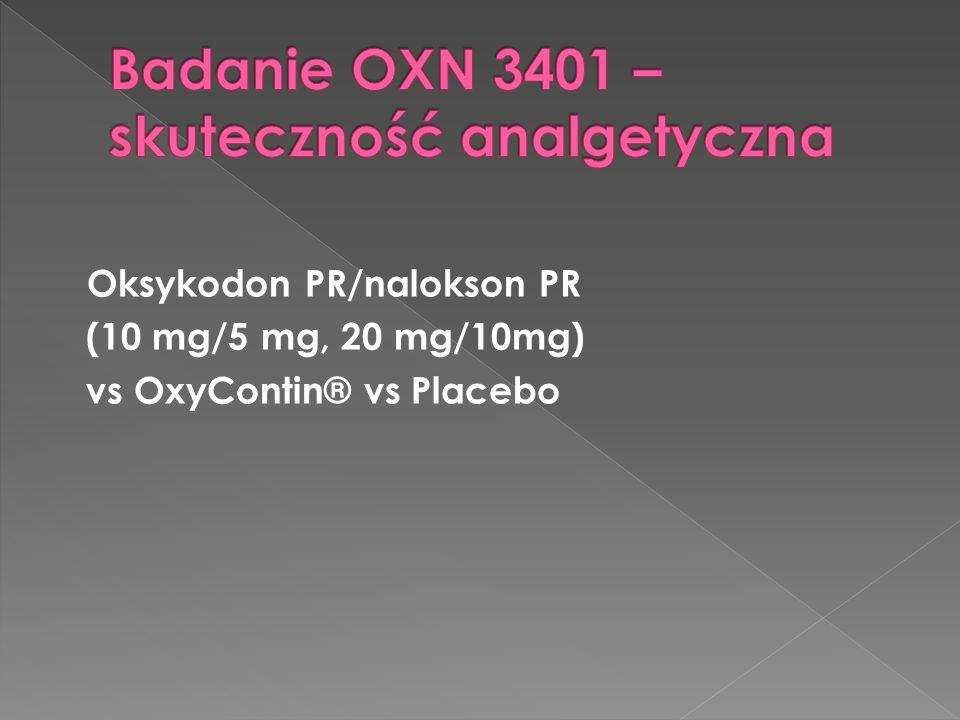 Badanie OXN 3401 – skuteczność analgetyczna