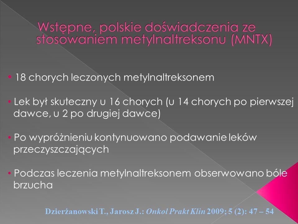 Wstępne, polskie doświadczenia ze stosowaniem metylnaltreksonu (MNTX)