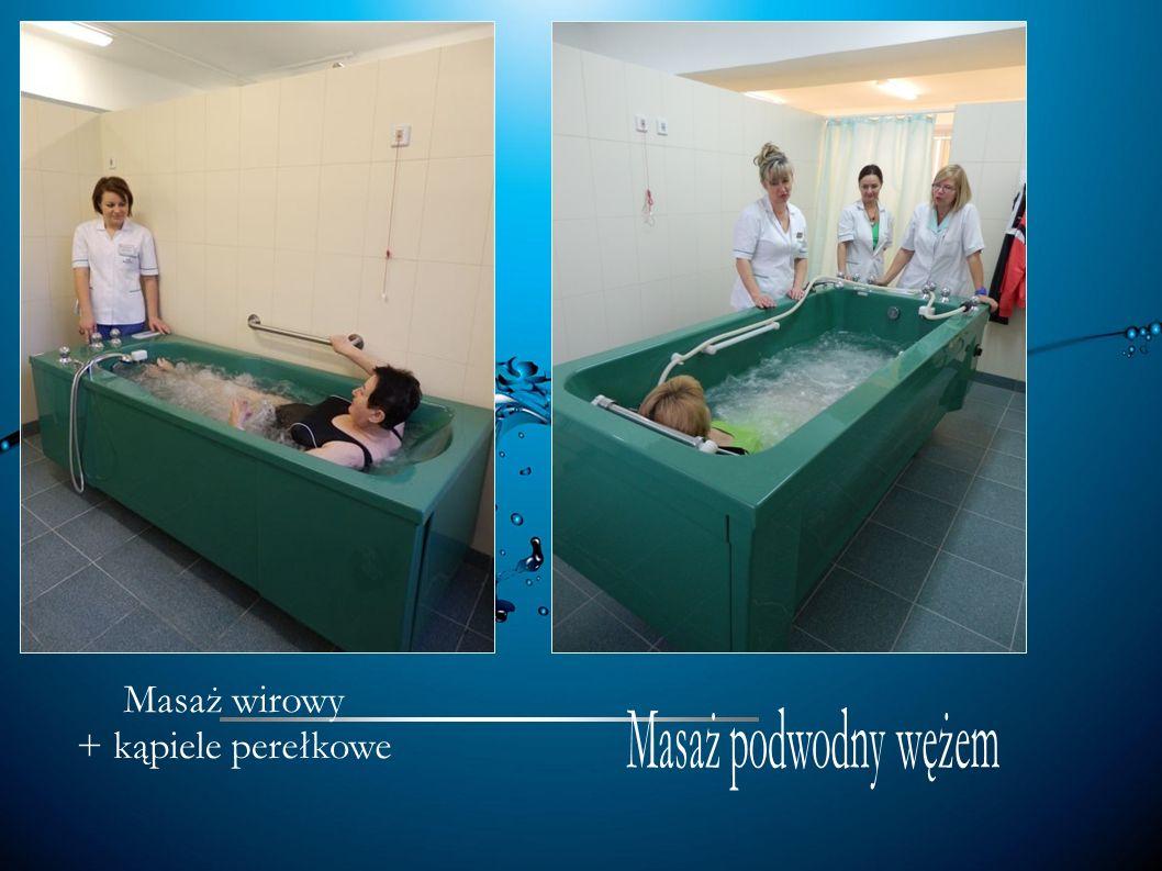 Masaż wirowy + kąpiele perełkowe Masaż podwodny wężem 13 13