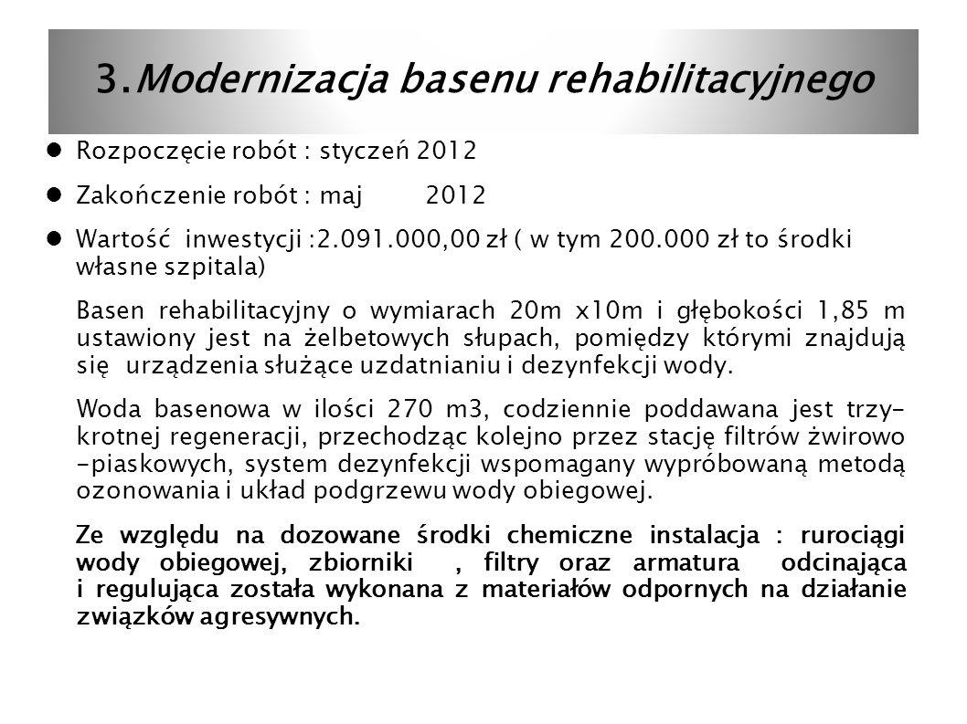 3.Modernizacja basenu rehabilitacyjnego