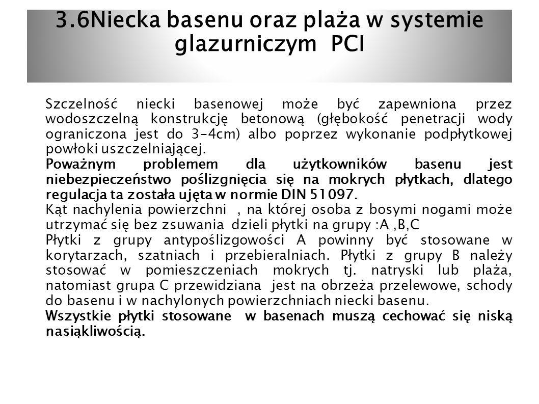 3.6Niecka basenu oraz plaża w systemie glazurniczym PCI