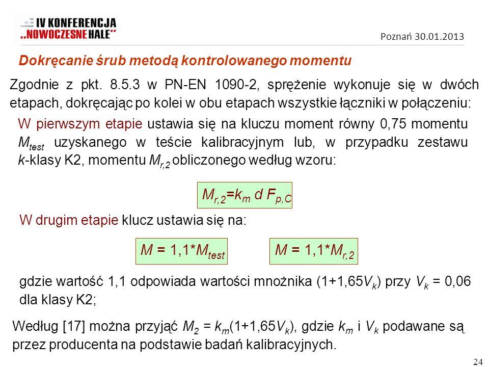 Mr,2=km d Fp,C M = 1,1*Mtest M = 1,1*Mr,2