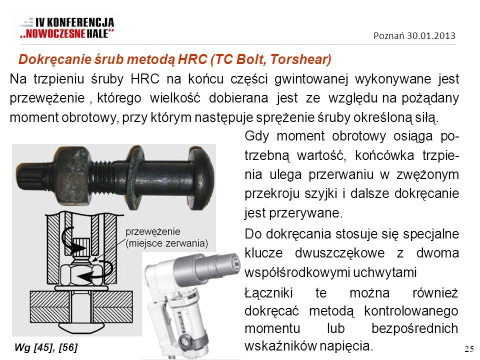 Dokręcanie śrub metodą HRC (TC Bolt, Torshear)