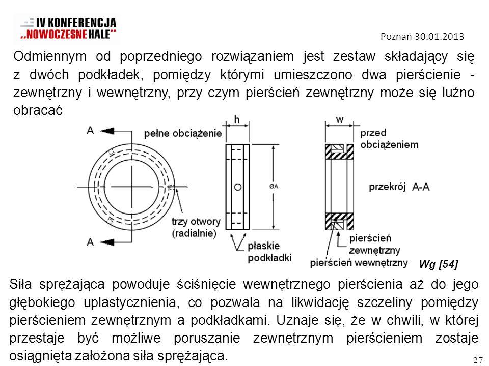 Odmiennym od poprzedniego rozwiązaniem jest zestaw składający się z dwóch podkładek, pomiędzy którymi umieszczono dwa pierścienie - zewnętrzny i wewnętrzny, przy czym pierścień zewnętrzny może się luźno obracać