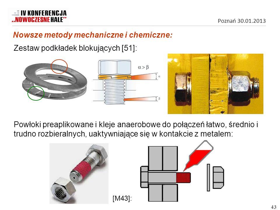 Nowsze metody mechaniczne i chemiczne: