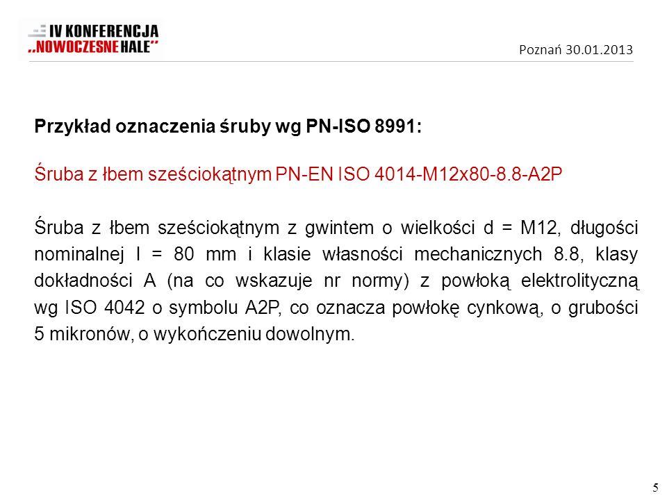 Przykład oznaczenia śruby wg PN-ISO 8991: