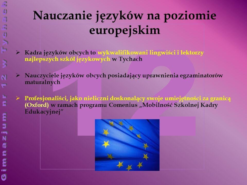 Nauczanie języków na poziomie europejskim
