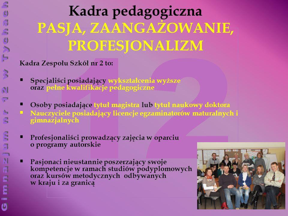 Kadra pedagogiczna PASJA, ZAANGAŻOWANIE, PROFESJONALIZM