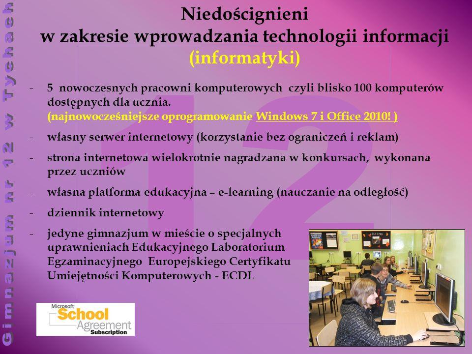 Niedoścignieni w zakresie wprowadzania technologii informacji (informatyki)