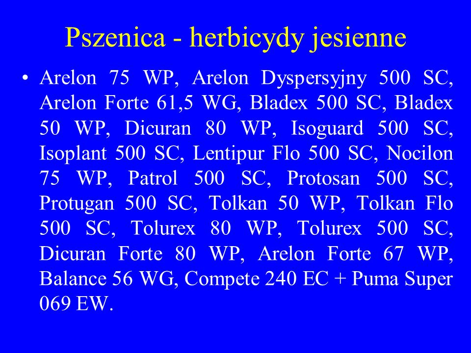 Pszenica - herbicydy jesienne